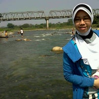 Photo taken at Jembatan Benteng Sungai Lematang by Tri Sisca S. on 8/26/2012