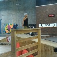 Photo taken at Epic Indoor Skate Park by Jennifer H. on 7/18/2012
