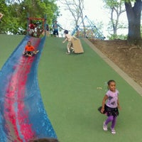 Photo taken at Frick Park Blue Slide Playground by Jermaine H. on 5/6/2012