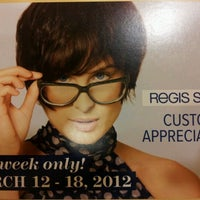 Photo taken at Regis Hair Salon by James O. on 3/9/2012