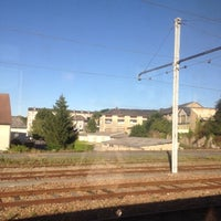 Photo taken at Gare SNCF de La Souterraine by Anthony V. on 7/23/2012