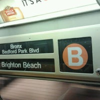 Photo taken at MTA Subway - B Train by Daniel S. on 4/12/2012