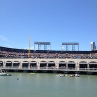 Photo taken at McCovey Cove by Adam W. on 5/19/2012
