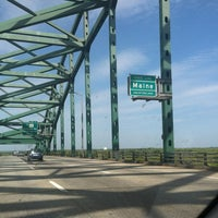 Photo taken at New Hampshire / Maine State Line by Wuanita Q. on 5/13/2012