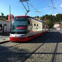 Photo taken at Malostranská (tram) by meo on 9/10/2012