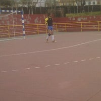Photo taken at Complejo Deportivo Municipal Ramón y Cajal by Jesus on 3/24/2012