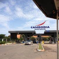 Photo taken at Siem Reap International Airport (REP) by Chris T. on 8/4/2012