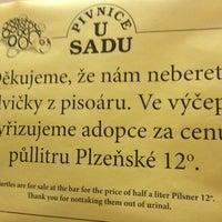 Photo taken at U Sadu by Přemysl P. on 8/15/2012