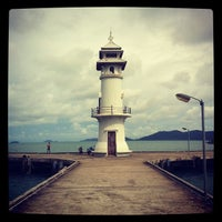 Photo taken at Bang Bao Lighthouse by BoRn S. on 8/26/2012
