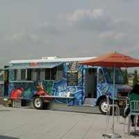 Photo taken at Blue Route Taco Truck by Jen M. on 3/23/2012