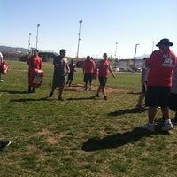 Photo taken at Oak Hills Bulldog Stadium by MJ P. on 5/9/2012