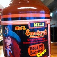Photo taken at Mrs. Smokeys Real Pit BBQ by Vivian A. on 6/23/2012
