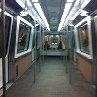 Photo taken at Denver International Airport Train by William H. on 2/14/2012