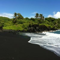 Photo taken at Black Sand Beach by amy l. on 2/23/2012