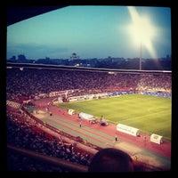 """Photo taken at Stadion """"Rajko Mitić"""" by Filip V. on 8/2/2012"""