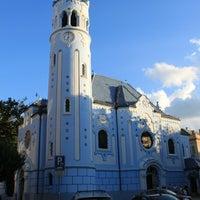 Photo taken at Kostol sv. Alžbety (The Blue Church) by Pier Giovanni R. on 8/12/2012