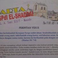 Photo taken at GPdI El Shaddai Sario by Tirza K. on 7/8/2012