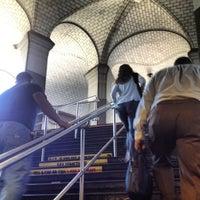 Photo taken at MTA Subway - Brooklyn Bridge/City Hall/Chambers St (4/5/6/J/Z) by Nikki N. on 6/8/2012