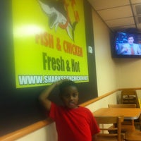 Photo taken at Mr. Shark's Fish and Chicken by Rommie W. on 8/5/2012