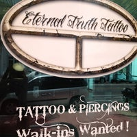 Photo taken at Eternal Truth Tattoo by Maria H. on 4/15/2012