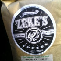 Photo taken at Zeke's Coffee (retail) by Tiffany H. on 7/27/2012