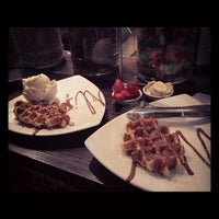 Photo taken at Max Brenner Chocolate Bar by Raffay M. on 8/25/2012