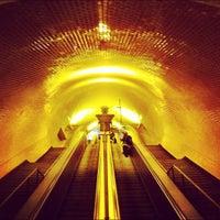 Photo taken at Metro Baixa-Chiado [AZ,VD] by José Manuel F. on 5/7/2012