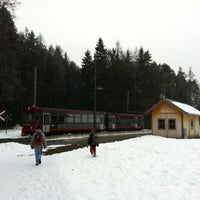 Photo taken at Die Rittner Schmalspurbahn / Il trenino del Renon by Sandro S. on 2/19/2012