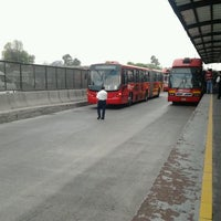 Photo taken at Metrobús Indios Verdes by Shoko F. on 3/26/2012