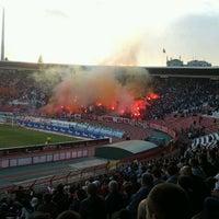 Photo taken at Omladinski stadion   OFK Beograd by Miki P. on 5/9/2012