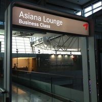 Photo taken at Asiana Lounge Business Class by Su Chan Y. on 4/15/2012
