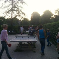 Photo taken at Monbijou Ping Pong Tables by Annegret S. on 7/4/2012