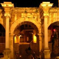 Photo taken at Hadrian's Gate by Neşe N. on 5/4/2012