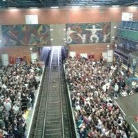 Photo taken at Estação Palmeiras-Barra Funda (CPTM) by Ricardo B. on 8/31/2012