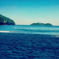 Photo taken at Barra do Sahy by Felipe V. on 5/26/2012