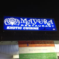 Photo taken at Mayura Indian Restaurant by Sally L. on 8/30/2012