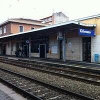 Photo taken at Stazione Chivasso by Caco P. on 4/16/2012