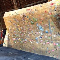Photo taken at Red Barn Climbing Gym by Ray S. on 3/22/2012