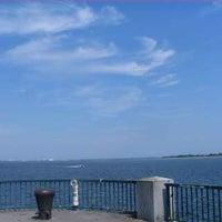 Photo taken at Canarsie Pier by Laritza Queen HoneyBee on 7/4/2012
