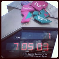 Photo taken at London 2012 OMEGA Countdown Clock by Andrew H. on 8/28/2012
