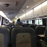 Photo taken at Amtrak Acela 2173 by Jordan S. on 9/6/2012