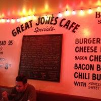 Photo taken at Great Jones Cafe by Dennis N. on 4/14/2012