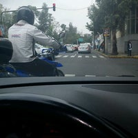 Photo taken at Av. Río Mixcoac by Daniela D. on 8/28/2012