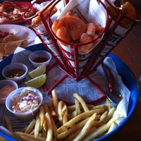 Photo taken at Bubba Gump Shrimp Co. by Harley Davidson on 4/3/2012