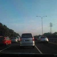 Photo taken at Gerbang Tol Taman Mini Utama by anto s. on 4/17/2012