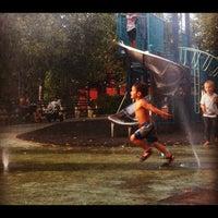 Photo taken at William Sheridan Playground by Jon C. on 9/9/2012