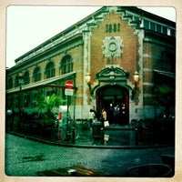 Photo taken at Café des Halles Saint-Géry by Alia V. on 6/21/2012