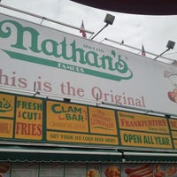 Photo taken at Nathan's Famous by Natalie V. on 7/14/2012