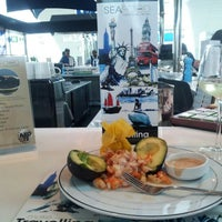 Photo taken at Seafood Bar by Caviar House & Prunier by Evgeni V. on 8/16/2012