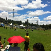 Photo taken at Eddie Tam Field and Gym by hnygirl2000 on 6/22/2012